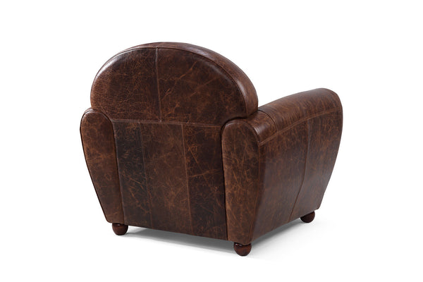 Back of the Leather Club Chair by Rose & Moore