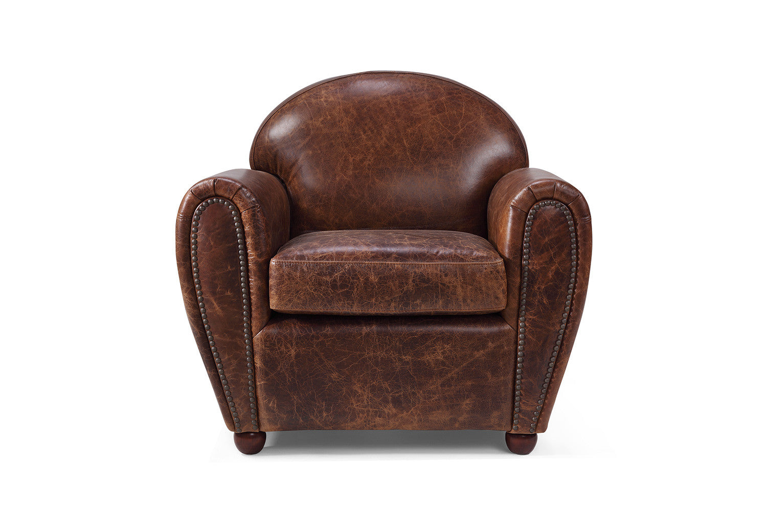 Superbe Leather Club Chair By Rose U0026 Moore