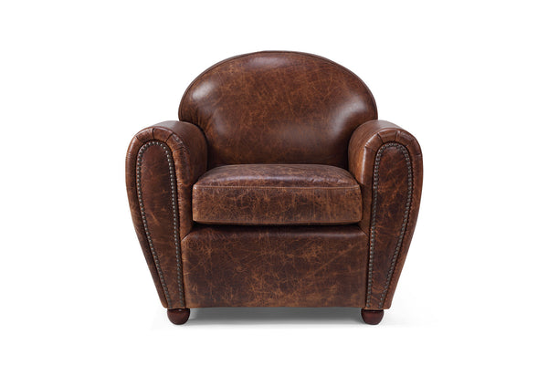 Leather Club Chair by Rose & Moore