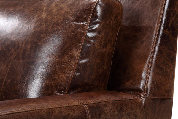 Cushion of the Belgian leather chair