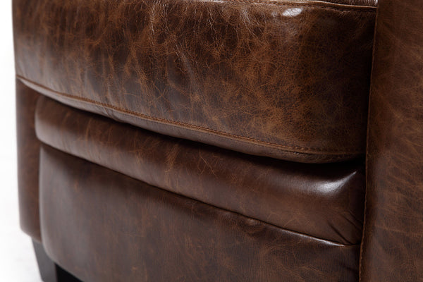 Vintage brown distressed leather