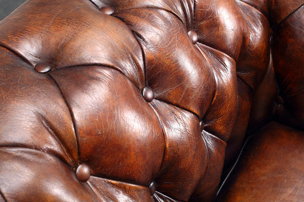 English Brown Original Tufted Chair by Rose & Moore