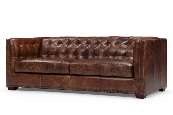 Brighton English Leather Sofa