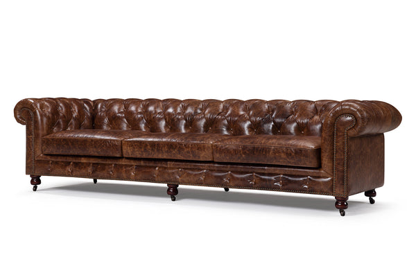 Kensington Large Chesterfield Leather Sofa