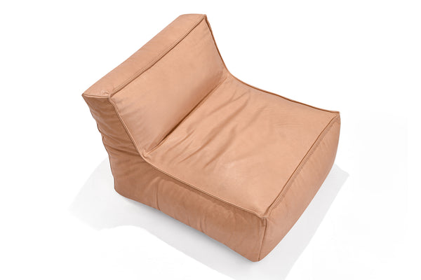 Leather Bean Bag Lounger