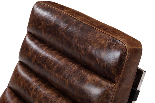 Chaise Lounge leather backrest