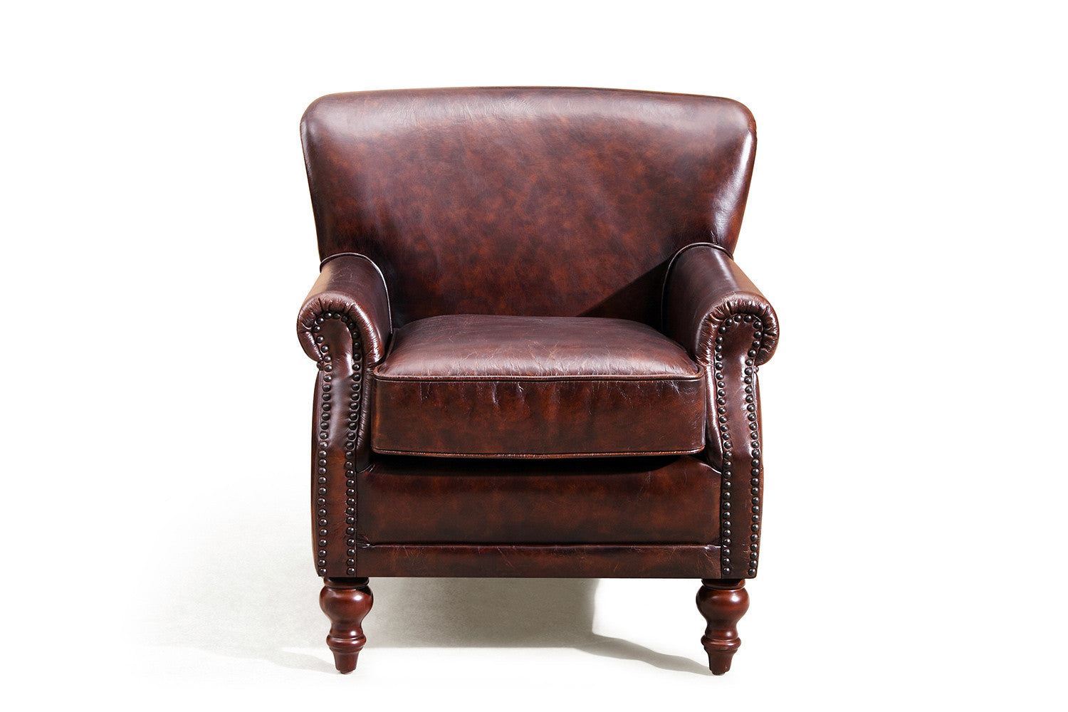 The cambridge english leather chair rose and moore for Chaise fauteuil cuir