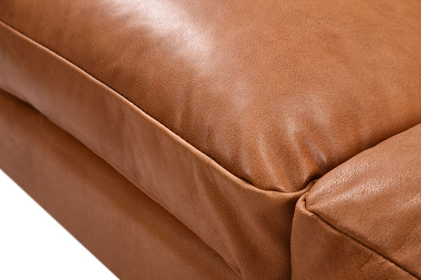 Leather Mid-Century Sofa - S03