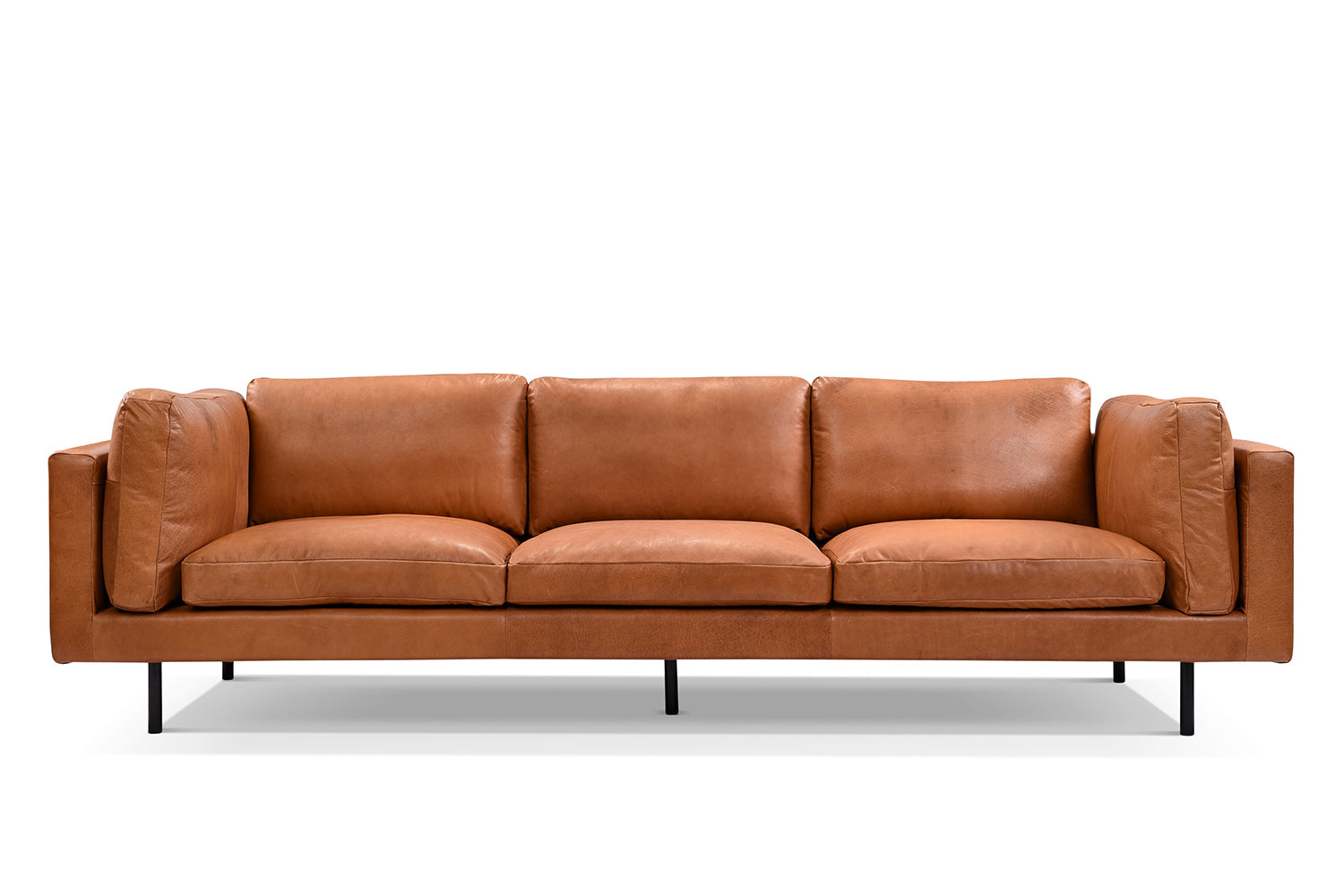 Leather Mid-Century Sofa - S03 | Rose and Moore