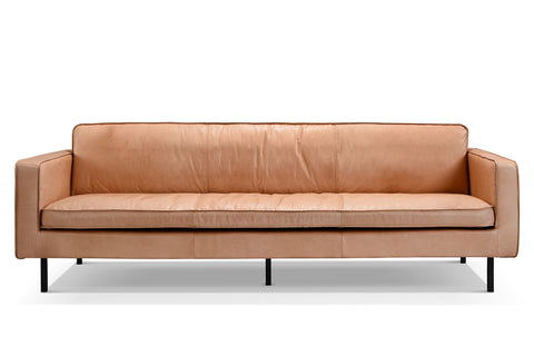 Leather Mid-Century Sofa S01