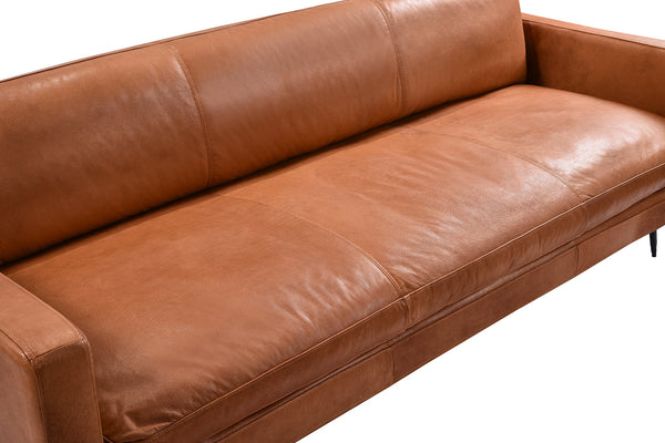 Leather Saddle Sofa - S02