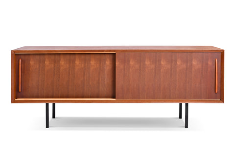 Mid-Century Sliding Door TV Console - CA01