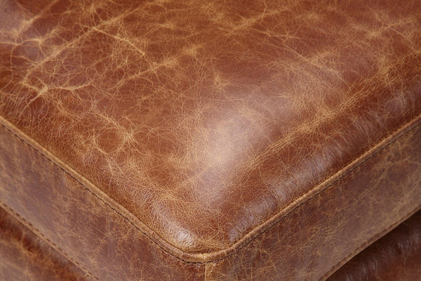 Tan brown distressed leather
