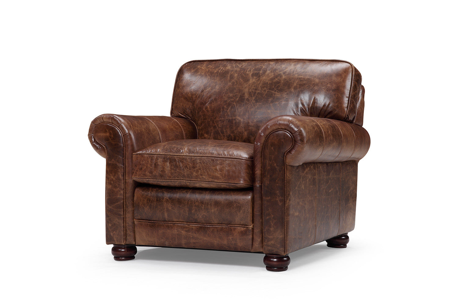 Traditional armchair - Montrose Traditional Leather Armchair