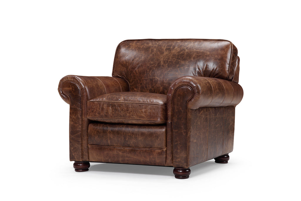 Montrose Traditional Leather Armchair