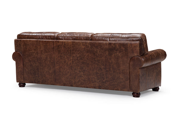 back of the Montrose traditional leather sofa