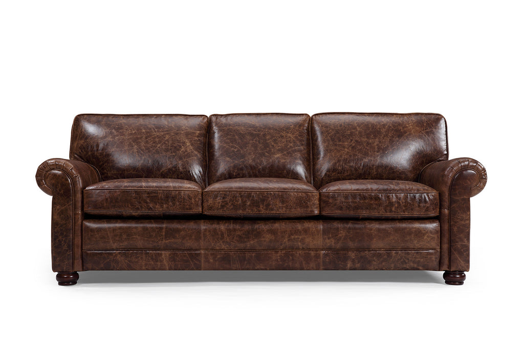 The Montrose Traditional Leather Sofa