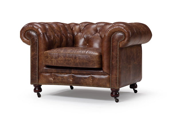 Kensington Tufted Leather Chair