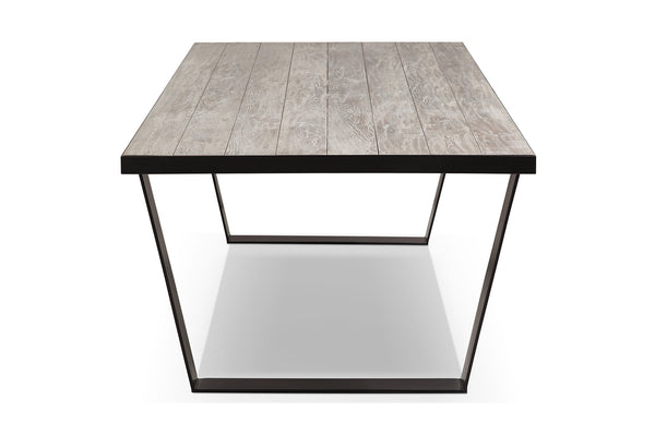 U-shaped Metal and Wood Dining Table - DT01