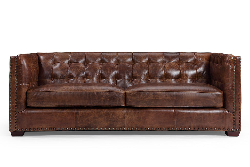 Merveilleux Brighton Vintage English Leather Sofa