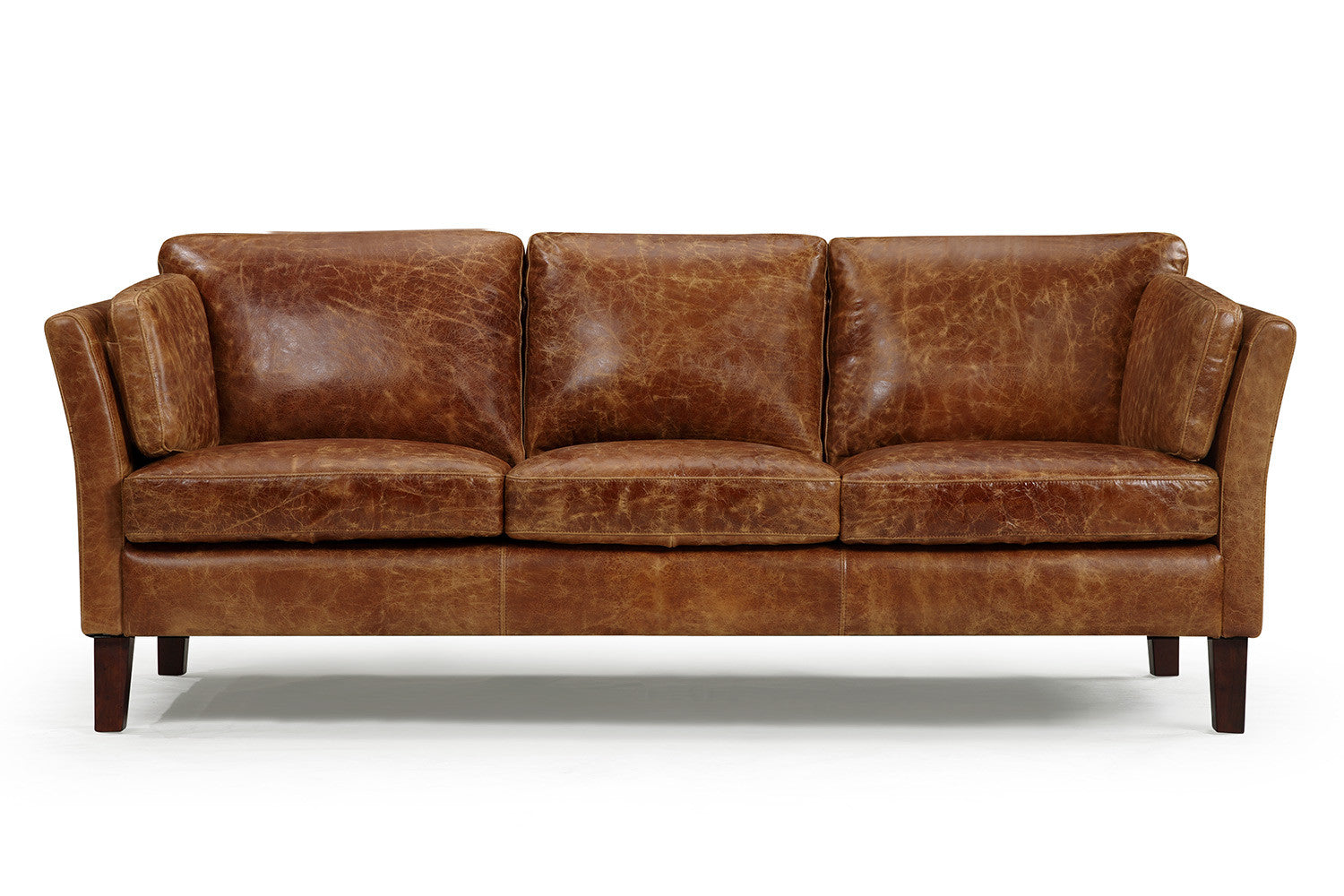 Exceptionnel Vintage 1960 Scandinavian Leather Sofa
