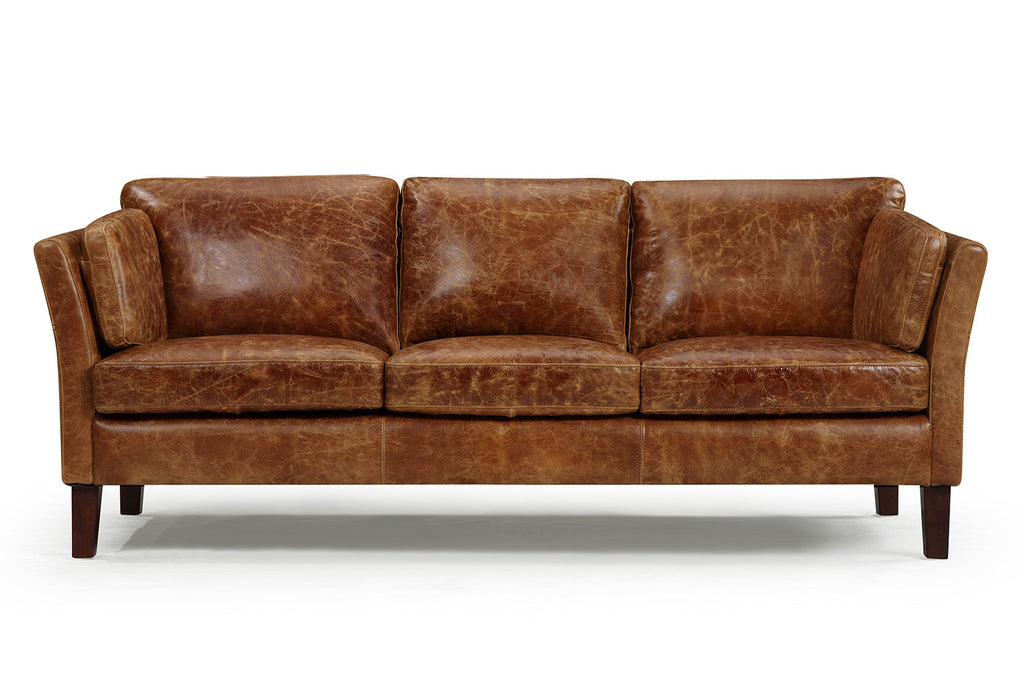 The Vintage 1960 Scandinavian Leather Sofa