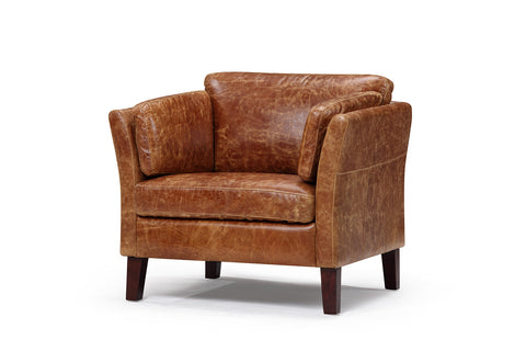 the vintage leather chair