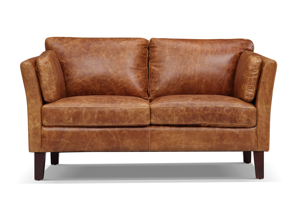 The Vintage 1960 Scandinavian Leather Loveseat