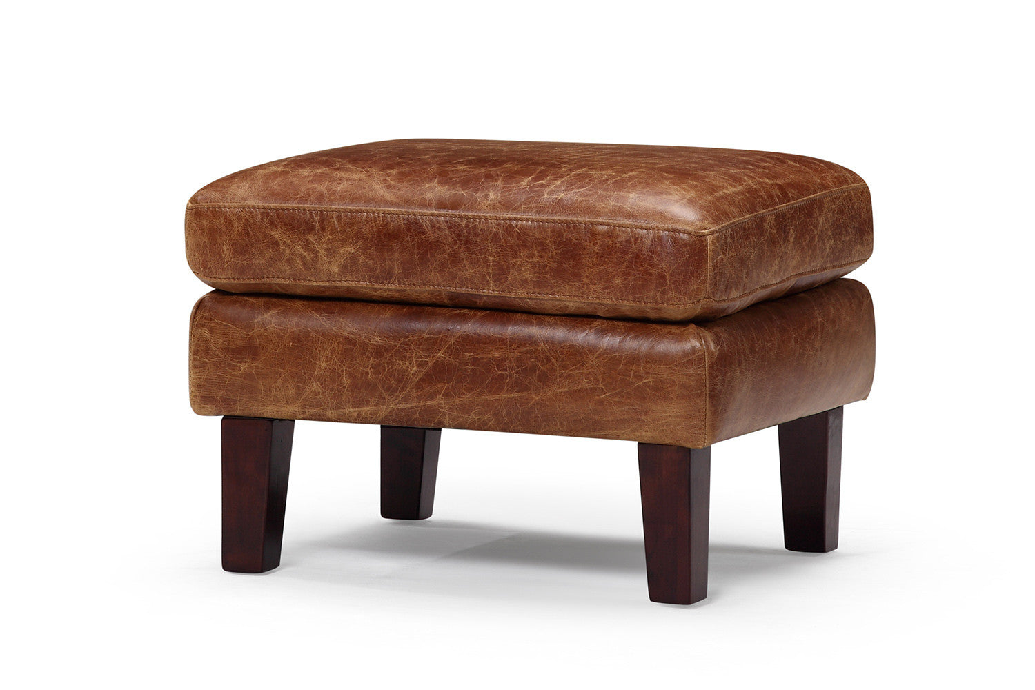 vintage leather footstool vintage 1960 scandinavian ottoman and 3235