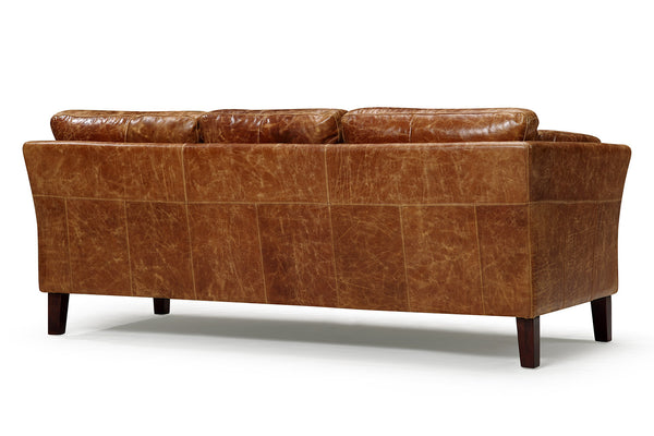 Back of the Vintage 1960 Scandinavian Leather Sofa