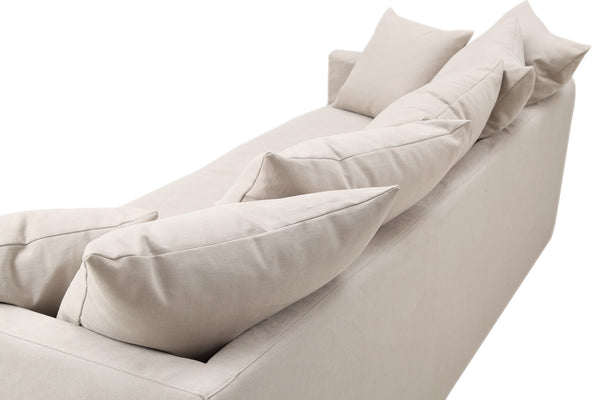 Pillows on the Montauk Fabric Track Arm Sofa