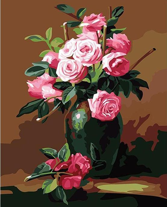 Adorable Roses Paint by Numbers