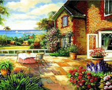 Load image into Gallery viewer, Floral House View Paint by Numbers\