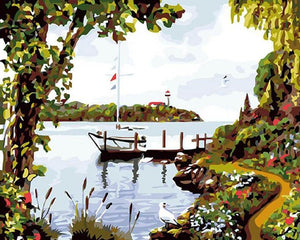 Amazing Lake View Paint by Numbers