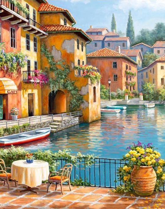 Amazing Town Paint by Numbers