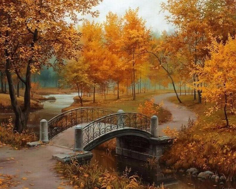 Autumn Park Painting by Numbers