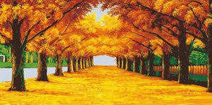 Autumn Pathway Paint by Numbers