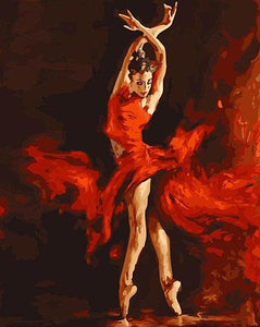 Ballet Dancer Painting by Numbers