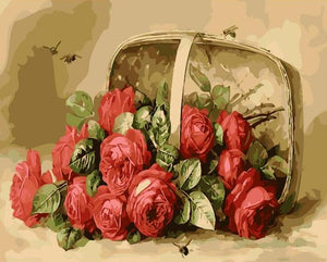 Red Roses Paint by Numbers