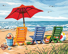 Load image into Gallery viewer, Beach Chairs Paint by Numbers