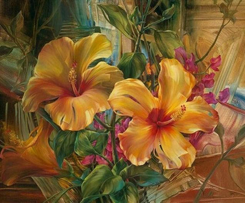 Beautiful Floral Art Paint by Numbers