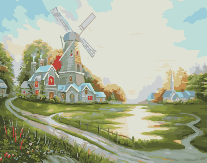 Windmill Paint by Numbers