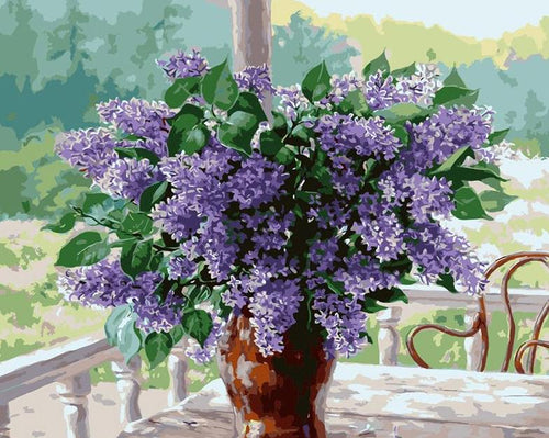 Lavender Flowers Paint by Numbers