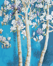 Load image into Gallery viewer, Magnolia Flowers Paint y Numbers