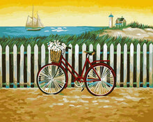 Load image into Gallery viewer, Bicycle & Daisies Paint by Numbers