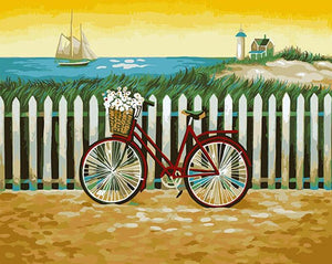 Bicycle & Daisies Paint by Numbers