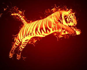 Blazing Tiger Paint by Numbers