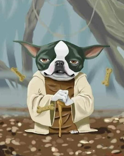 Boston Terrier Yoda Paint by Numbers