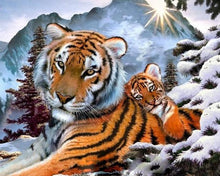 Load image into Gallery viewer, Brown Tiger Paint by Numbers