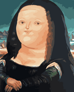 Cartoon Mona Lisa Paint by Numbers